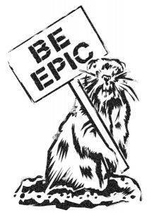 Be Epic stencil