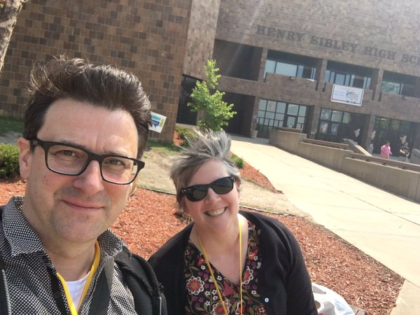Kirstin and Erik, Teen Lit Con, May 2016--happy people with a fun book!